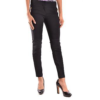 Just Cavalli Ezbc141005 Mujeres's Pantalones de Viscosa Negra