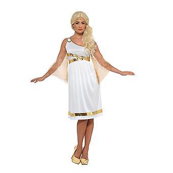 Ortaçağ Yunan Bayanlar Kostüm Elbise Toga Antik Yunan Tanrıça Karnavalı