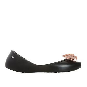 Womens Zaxy Start Blossom Shoes In Black Contrast- Slip On- Cushioned Insole-