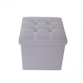 Meubles Rebecca Puff Container Baule Cube Design Grey Footrest 30x30x30