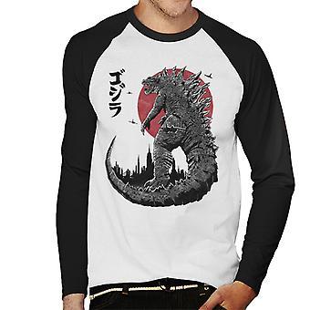 King Under The Sun Godzilla Men's Baseball Long Sleeved T-Shirt