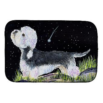 Starry Night Dandie Dinmont Terrier Dish Drying Mat