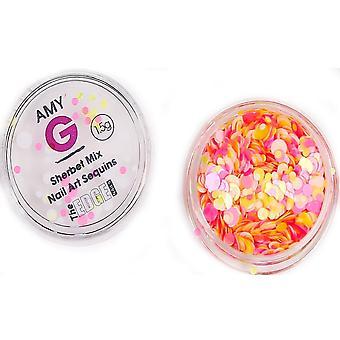 The Edge Nails Amy G - Sweet Nail Art Sequins - Sherbet 1.5g (3003059)