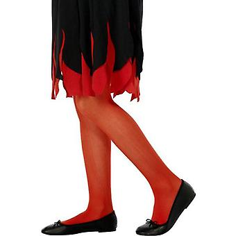 Childs Tights Red Large  Age 7-11.