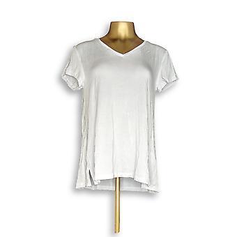 H par Halston Women-apos;s Top Essentials V-Neck Tee White A306231