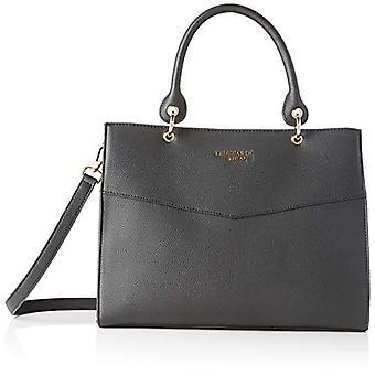 Trussardi Jeans Charlotte Top Handle MD Tumble Black Women's Hand Bag (Black) 25.5x14x33 cm (W x H x L)