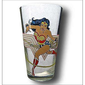 Csoda nő félelmetes pint Glass