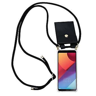 Cadorabo mobiltelefon kæde taske til LG G6 sag Cover-halskæde skuldre sag silikone med snor bånd ledning og flytbare etui-beskyttende etui Cover