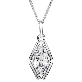 InCollections 241A201703340 - Chain with women's pendant with cubic zirconia - silver sterling 925