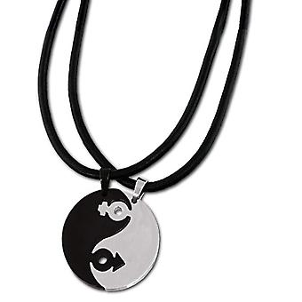 Amello - Chain with women's pendant - stainless steel and leather - 50 mm - cod. VESK001S