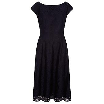 Louche Dalmatia Lace Dress Navy
