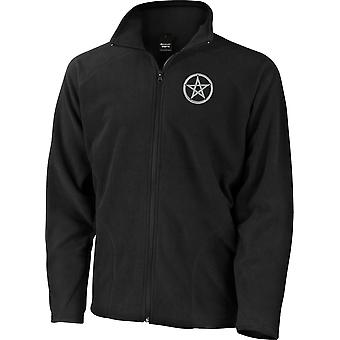 Wicca Pagan Witchcraft Emblem Rune - Microfleece Light Jacket