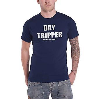 The Beatles T Shirt Day Tripper text HELP! Band logo Official Mens Navy Blue