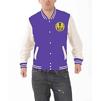 Asking Alexandria Baseball Jacket Skull Shield band logo Official Mens varsity