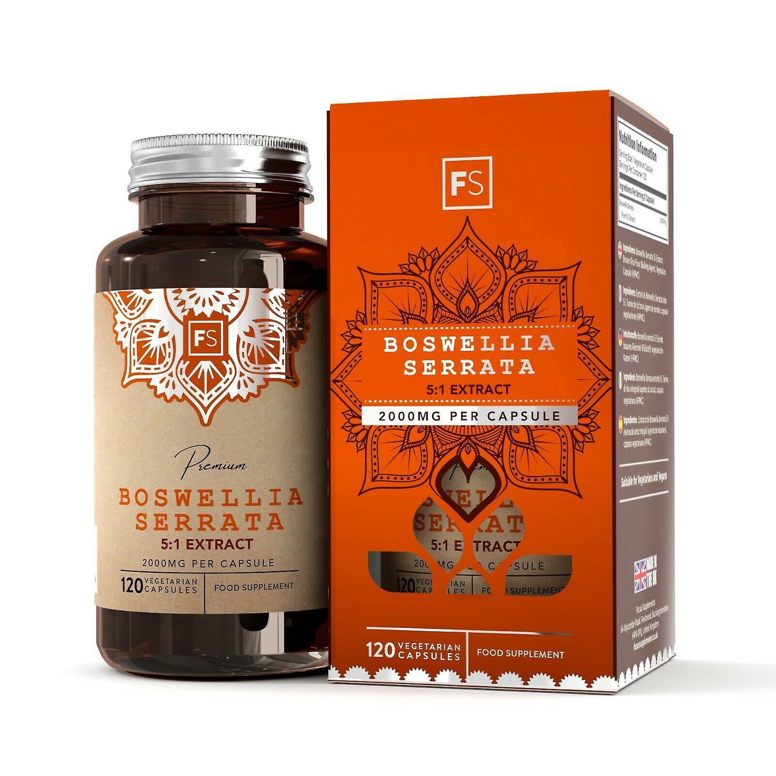 Focus Supplements Boswellia Serrata 5:1 Extract (2000mg) Capsules