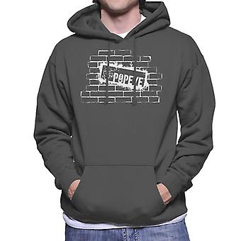 Popeye Brick Wall Poster Men's Hooded Sweatshirt