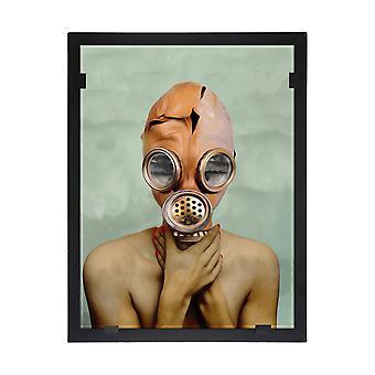 Glass vision-painting-art glass-Maskan sight Design Yvonne Heinonen