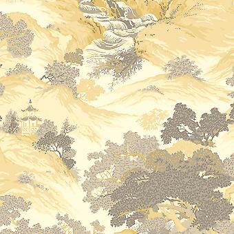Crown Arkiv orientalisk landskap tapet