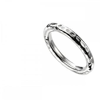 Beginnings  Sterling Silver Hammered Band Ring R3704