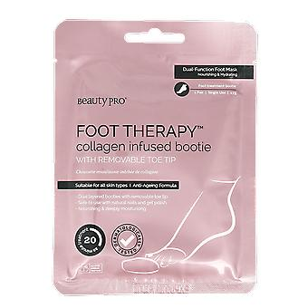 Beauty Pro Foot Therapy Collagen Infused Bootie with Removable Toe Tip 23g