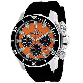 Seapro Men-apos;s Scuba Dragon Diver Limited Edition 1000 Meters Orange Dial Watch - SP8343R