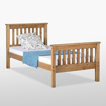 Monaco Bed High Foot End - Distressed Waxed Pine