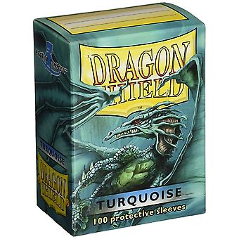 Dragon Shield 100ct Box Deck Protector Classic Turkus (pakiet 10)