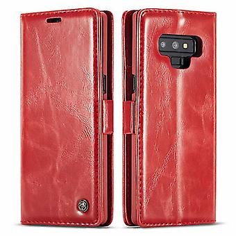 Case For Samsung Galaxy Note 9 Red Card Holder