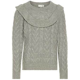Nom-It Couteau pull Orfrill Grey Melange