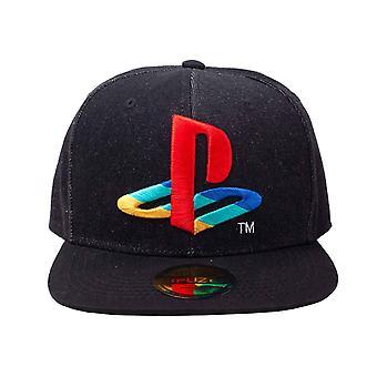 Playstation Baseball Cap Classic Logo Denim new Official Black Snapback