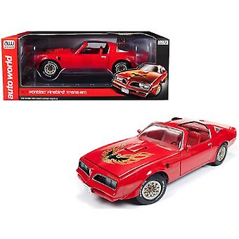 1977 Pontiac Firebird Trans Am Buccaneer Red Limited Edition to 1,002 pieces Worldwide 1/18 Diecast Model Car by Autoworld