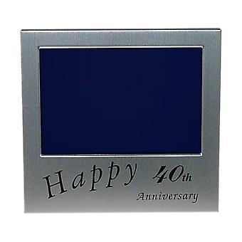 Shudehill Giftware Happy 40th Anniversary 5 X 3.5 Photo Frame