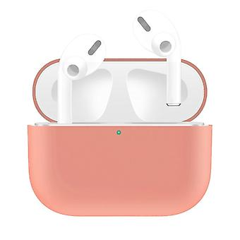 For AirPods Pro Case, Silicone Protective Earphone Cover, Dust-proof, Dirt-resistant, Light Pink