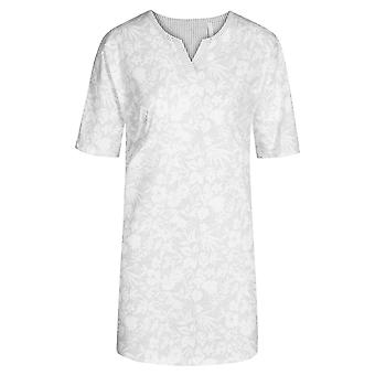 Rösch 1203010-16420 Femei's Smart Casual Flower Stripe Grey Floral Nightdress