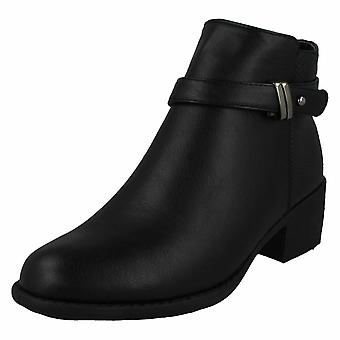 Spot On Womens / Ladies Mid Heel Strap Ankle Boots Spot on Womens / Ladies Mid Heel Strap Ankle Boots
