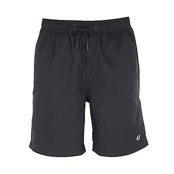 Fred Perry Black Textured Swim Short