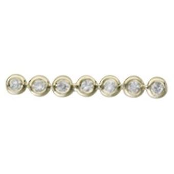 14k צהוב זהב יחיד 0.05 Dwt יהלום בר פתוח עגילים תכשיטים מתנות לגברים