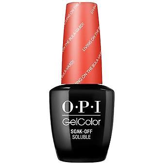 OPI GelColor Gel Color - Soak Off Gel Polish - Living On The Bula-Vard! 15ml (GC F81)