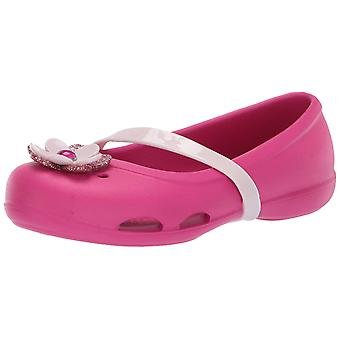 Crocs Kids' Piger Lina Charm Ballet Flat