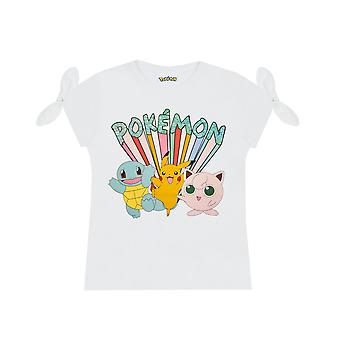 Pokemon Pikachu and Characters Girl's T-shirt
