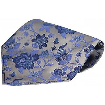 David Van Hagen kukka kuviollinen silkki nenäliina - kulta/sininen