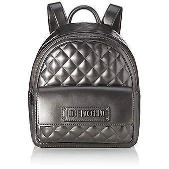 Liefde Moschino Bag Gewatteerde Nappa Pu Grey Damesrugzak (Fucile) 31x12x30 cm (W x H x L)