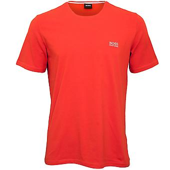 BOSS Luxe Jersey Crew-Neck T-Shirt, Deep Orange