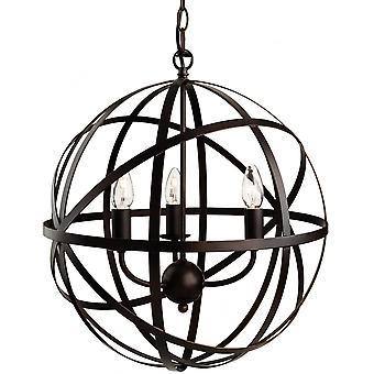 Firstlight Diverse Artistic Retro Antique Brown Open Ball Cage Ceiling Pendant