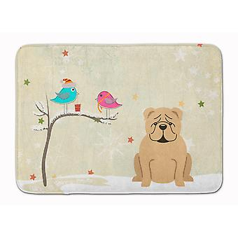 Christmas Presents between Friends English Bulldog Fawn Machine Washable Memory