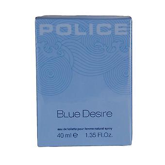Polícia Azul Desejo Femme Eau de Toilette Spray 40ml