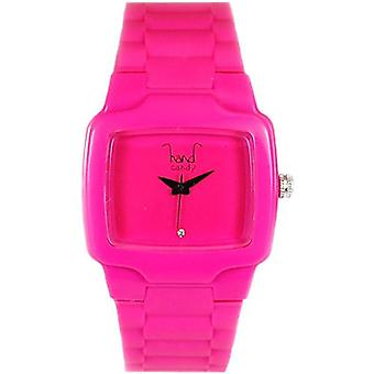 Hand Candy Bumpy Pink Rubber Ladies Watch - HCTVPK