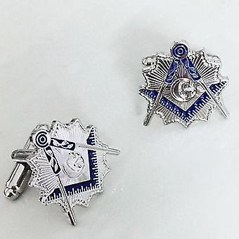 Lodge square & compass sunburst masonic cufflinks