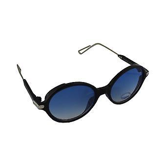 Óculos de sol UV 400 oval preto Lichtblauw1874_1