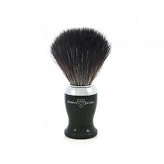 range barberbørste / svart syntetisk fiber / imitasjon ibenholt / forkrommet